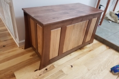 Walnut and Hickory Blanket Chest